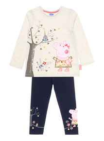 Girls Oatmeal Peppa Pig Set (1-6 years)