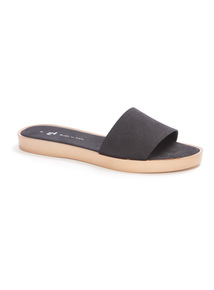Black Pool Slider Sandals