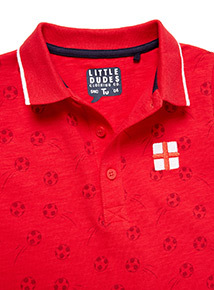 Red World Cup England Polo Shirt (9 months-6 years)