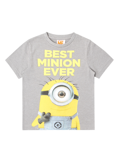 0ae00e3ea Kids Boys Grey Minion Print T-Shirt (9 months - 5 years) | Tu clothing