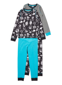 2 Pack Grey Shark Pyjamas (1.5-12 years)