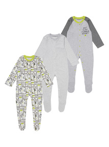 Roll With It Sleepsuits 3 Pack (0 - 24 months)