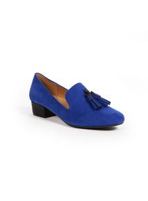 Sole Comfort Blue Tassel Slipper Shoe