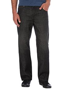 Black Washed Bootcut Denim Jeans