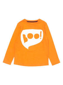 Orange Halloween Boo Tee (9 months - 5 years)