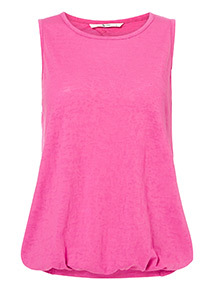 Pink Burnout Bubble Hem Vest