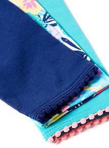 3 Pack Multicoloured Tropical Leggings (9 months-6 years)