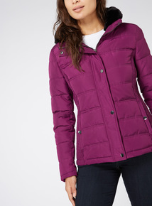 Purple Padded Coat