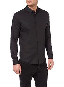 Black Slim Stretch Shirt
