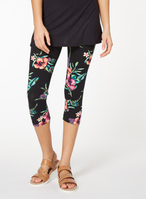 2 Pack Multicoloured Crop Printed Leggings