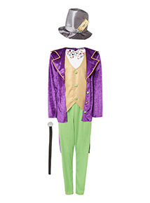 Multicoloured Adult Willy Wonka Costume
