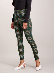 Green Check Leggings