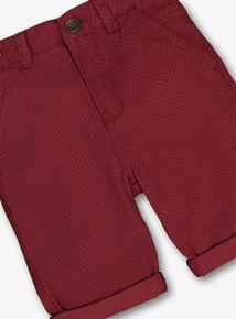 Burgundy Chino Shorts (3-14 years)