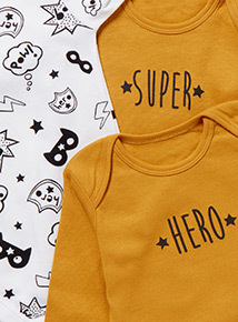 5 Pack Long Sleeve Superhero Bodysuits (0-24 months)