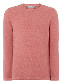 Raspberry Pink Basket Weave Jumper