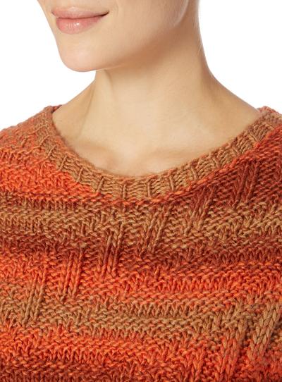 Knitting Pattern For Gruffalo Jumper : SKU:AW15 CABLE STRIPE JUMPER:Orange