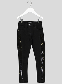 Black Sequin Skinny Jeans (3-14 years)