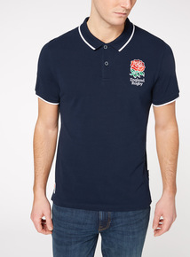 Official Licensed England Rugby Navy Polo