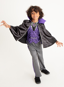 Halloween Purple Vampire Costume (3 - 12 Years)