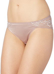 Light Brown Soft Touch Lace Brazilian Briefs 2 Pack