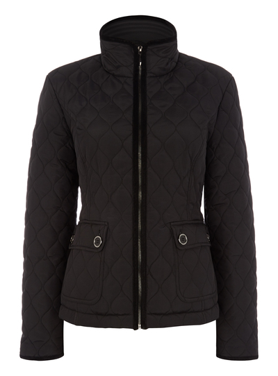 297803d4993a Womens Black Quilted Jacket | Tu clothing