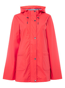 Red Rubber Raincoat