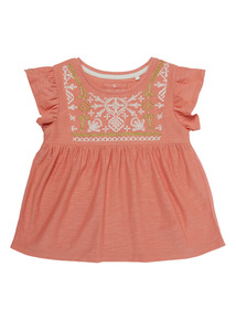 Pink Embroidered Jersey Top (9 months - 6 years)