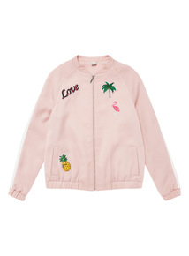 Pink Badge Bomber Jacket (3 - 12 years)