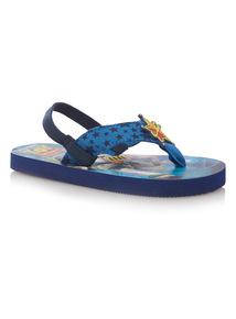 Boys Black Toy Story Flip Flops