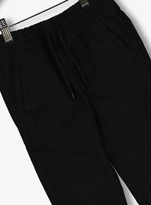 Black Woven Joggers (3-14 Years)