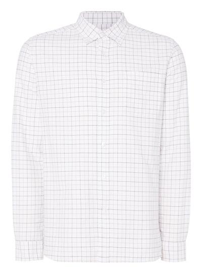 White Tattersall Oxford Shirt