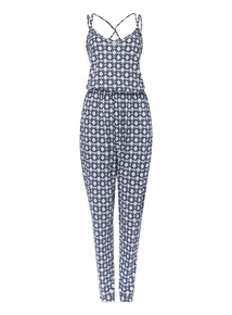 Tile Pattern Jumpsuit