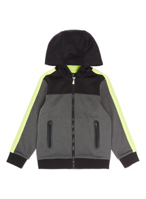 Kids Black Active Zip Hoody (3-14 years)
