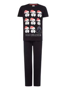 Black Disney Bah Humbug Star Wars Pyjama Set