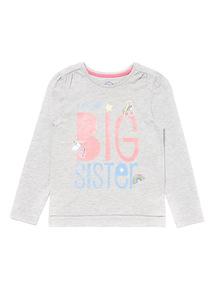 Grey Big Sister Top (9 months-6 years)