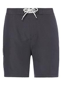 Charcoal Cargo Swim Shorts