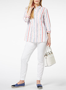 Multicoloured Striped Linen Shirt