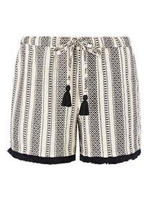 Textured Stripe Shorts