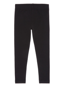 Black Plain Leggings (3 - 12 years)