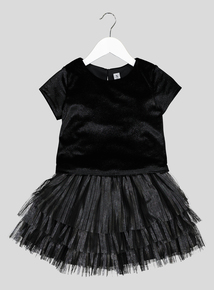Black & Silver Velour Twosie (3-14 years)