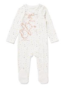 White Disney Winnie The Pooh Sleepsuit (Newborn-24 months)