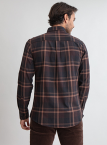 Premium Brown Slim Fit Check Shirt