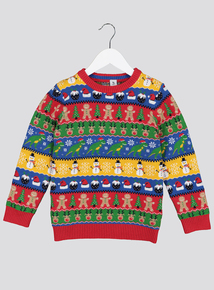 Christmas Multicoloured Fairisle Knit Jumper (9 months - 6 years)