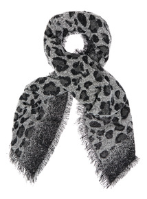 Heavyweight Animal Print Scarf