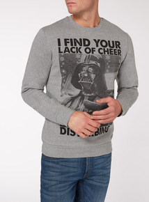 Grey Christmas Disney Star Wars Jumper