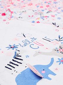 2 Pack Multicoloured Printed Sleepsuits (Newborn-24 months)