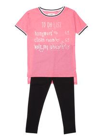 Girls Pink Unicorn Set (3-14 years)