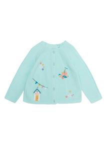 Green Embroidered Cardigan (0 - 24 months)
