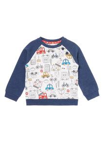 Blue Raglan Sweatshirt (1-24 months)
