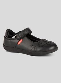 ToeZone Black Floral Shoes (6 infant - 4 child)